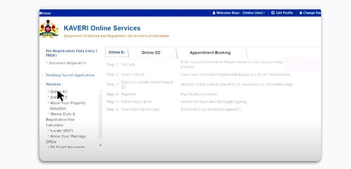 Kaveri Online Services